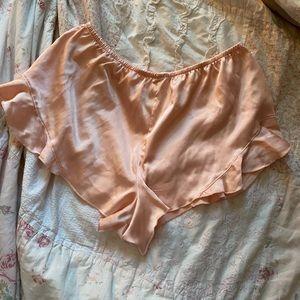 Vintage Victoria Secret Pink Satin Shorts